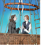 Felicity Jones and Eddie Redmayne in The Aeronauts