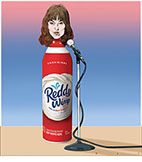 A spoof of the film I Am Woman with lead actress Tilda Cobham-Hervey playing Helen Reddy as a can of Reddy Wimp in front of a microphone.