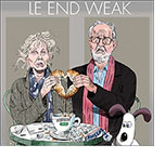 A spoof of the movie Le Week-End with stars Lindsay Duncan and Jim Broadbent at a Parisian cafe holding two semi-fresh packaged croissants together to form a heart after dunking them in a cup of Nescafé Decaf. Gromit, the animated dog, looks on.