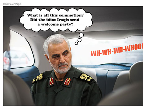 General Qasem Soleimani wonders if the Iraqis sent a welcome party when he hears a missile approaching his car