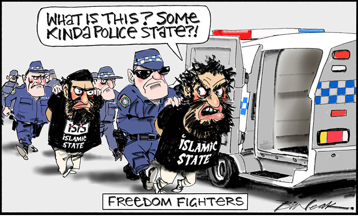 Freedom Fighters by Bill Leak