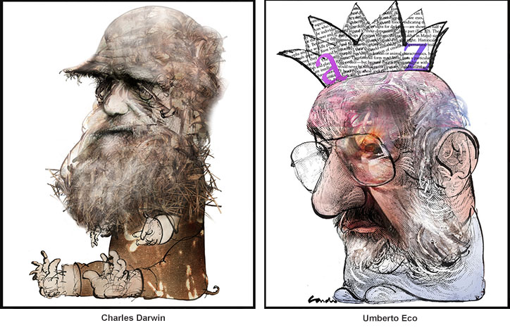 Charles Darwin and Umberto Eco
