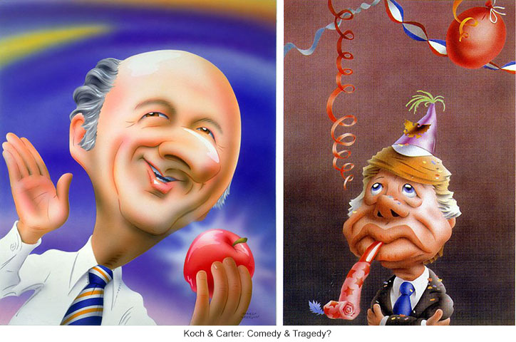 Ed Koch and Jimmy Carter